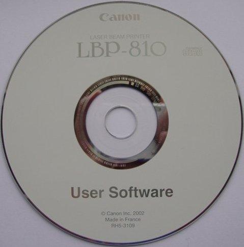 Здесь вы можете скачать установочный диск принтера Canon LBP 810.